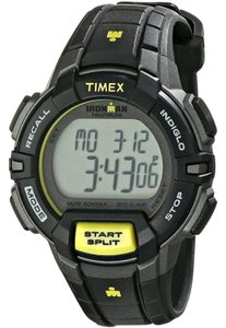 Timex T5K809 Men's Black Resin Band with Digital Dial Genuine Watch NWT