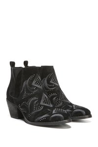 Fergalicious by Fergie Ankle Sexy Velvet Animal Print High Street black Boots