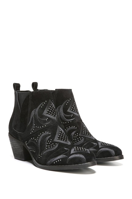 Item - Black Lexy Embroidered Ankle Boots/Booties Size US 6.5 Regular (M, B)