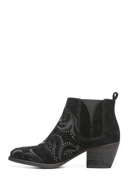 Item - Black Lexy Embroidered Ankle Boots/Booties Size US 7.5 Regular (M, B)
