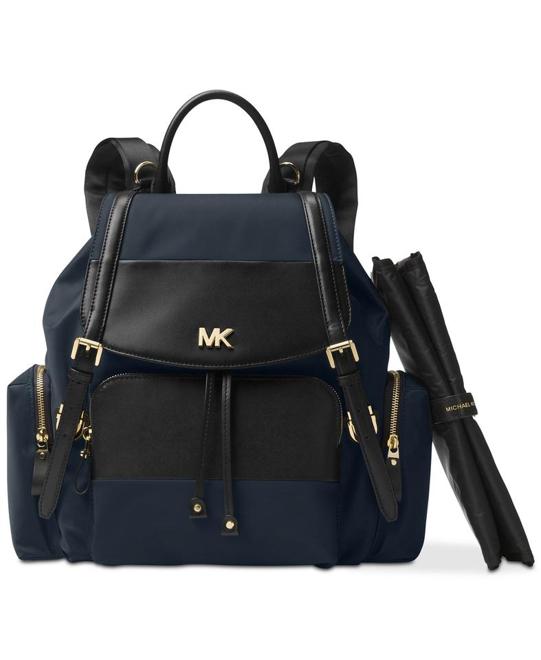 bc960ac38267 Michael Kors Beacon Backpack Blue Nylon and Leather Diaper Bag - Tradesy