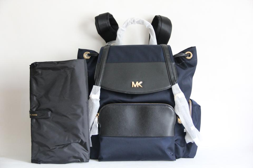 26f31f4875fe Michael Kors Beacon Backpack Blue Nylon and Leather Diaper Bag - Tradesy
