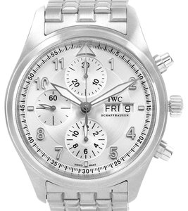 IWC IWC Flieger Spitfire Chronograph Silver Dial Watch IW371705 Box Papers