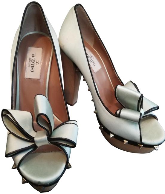 Item - Pale Seafoam Natural Black Caravani Made In Italy Wooden With Platforms Size EU 37 (Approx. US 7) Regular (M, B)