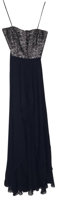 Item - Navy Blue Strapless Long Night Out Dress Size 4 (S)