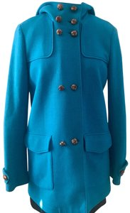 Les Copains Burberry Italy Leather Trench Coat
