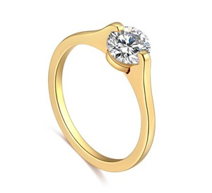 Other 14K Gold-Plated 1.25 CTW Princess Cut Solitaire Cubic Zirconia Ring