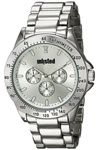 Unlisted by Kenneth Cole 10031965 Men's Silver Steel Bracelet With White Analog Dial Watch