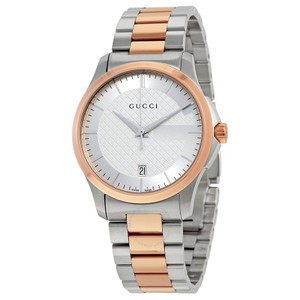 e84c9fdcec7 Gucci Silver G-timeless Two Tone Ya126409 Mens Watch - Tradesy
