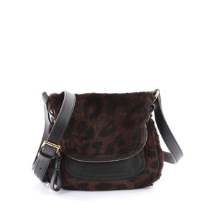 Tom Ford Crossbody Leather Tote in brown and black
