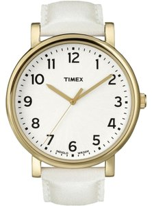 Timex T2P170 Men's White Strap With White Analog Dial Genuine Watch NWT