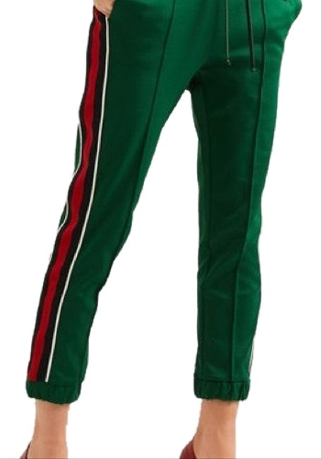 Item - Green Navy Red & White Tech Jersey Striped Track Activewear Bottoms Size 2 (XS)