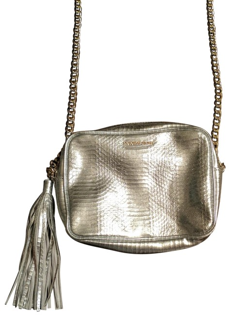 Item - Chain The Silver and Gold Leather Cross Body Bag