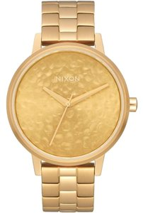 Nixon A0992710 Women's Gold Steel Bracelet With Gold Analog Dial Watch