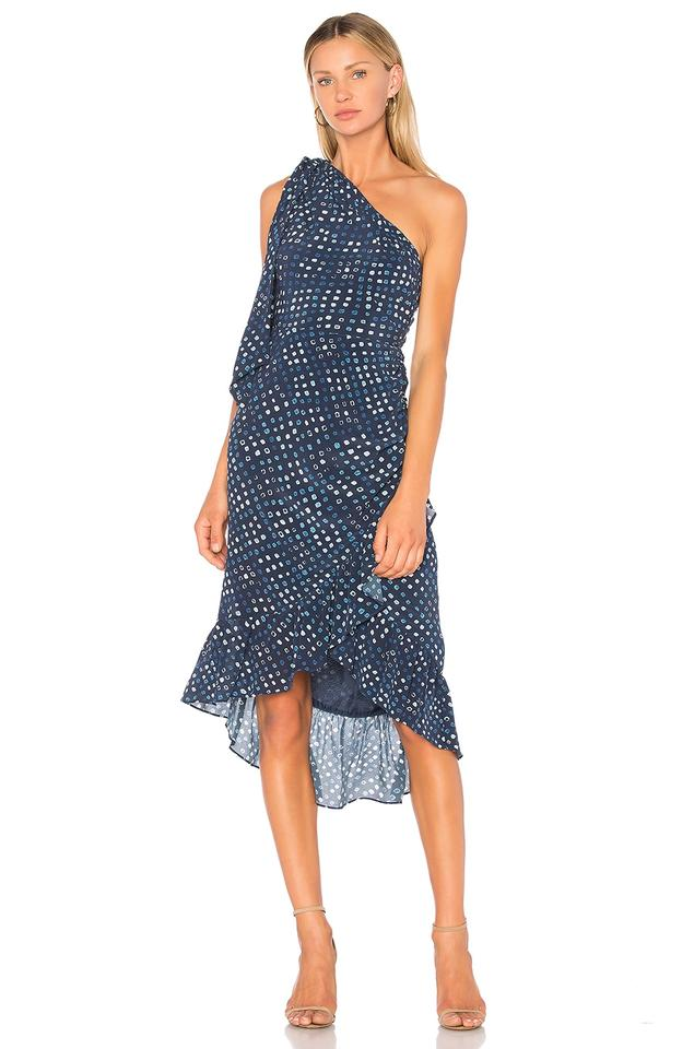 89b8ec0e2f0d0 Ulla Johnson Indigo Blue Imogen Mid-length Cocktail Dress Size 0 (XS ...