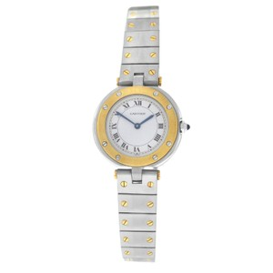 Cartier Authentic Ladies Cartier Santos Ronde 27MM 18K Yellow Gold Quartz