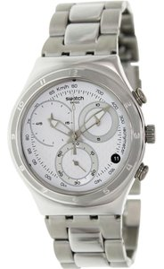 Swatch YCS550G Men's Silver Steel Bracelet With White Analog Dial Watch