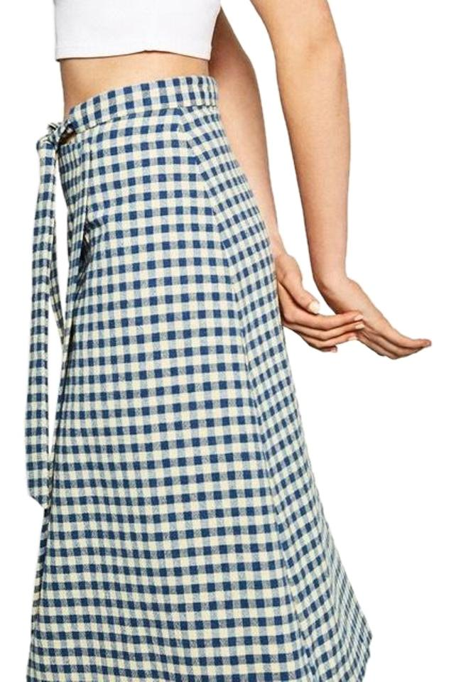 1774ac7bf3 Zara Gingham Skirt and Matching Blouse Long Casual Maxi Dress Size 8 ...