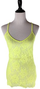Moda International Lace Floral Shirt Camisole Top Yellow