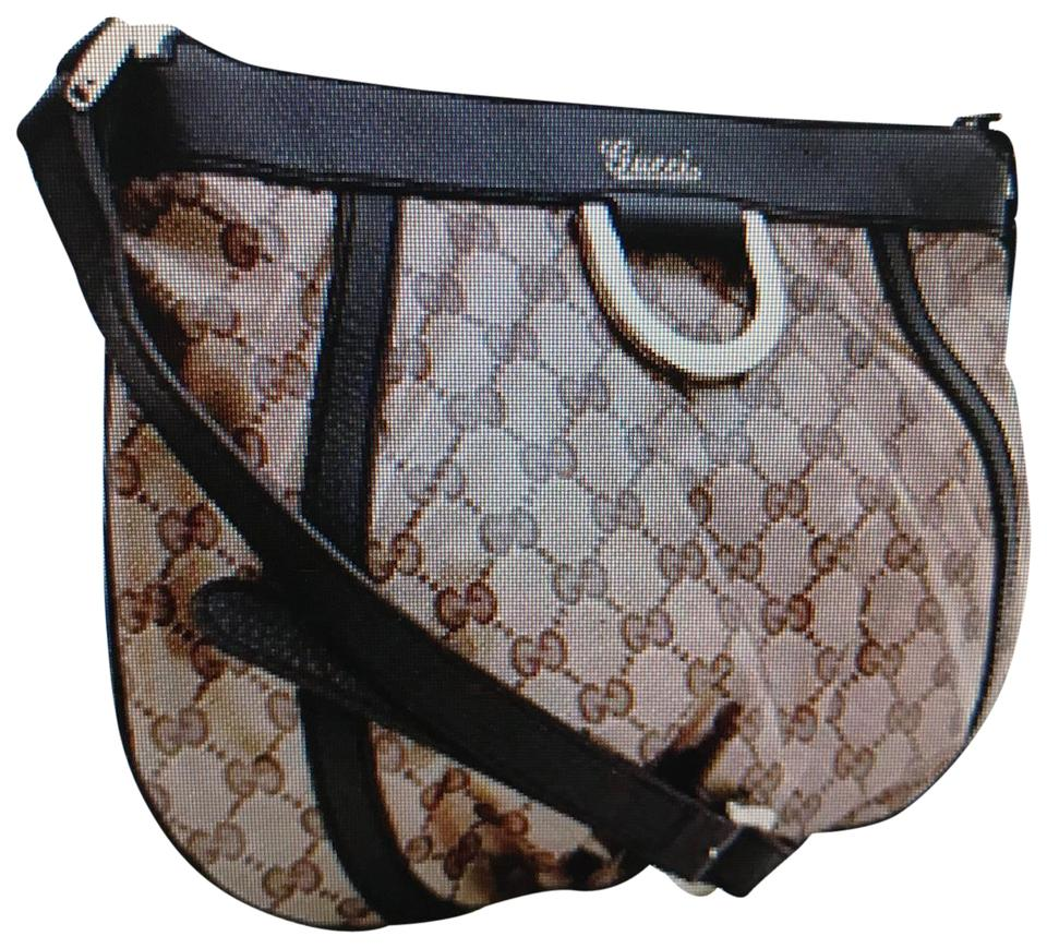 3b336619c606 Gucci Canvas Shoulder Gg Crystal Leather Monogram Cross Body Bag Image 0 ...