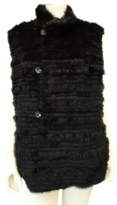 George Simonton Fur Buttons Reversible Plus Size 1x Vest