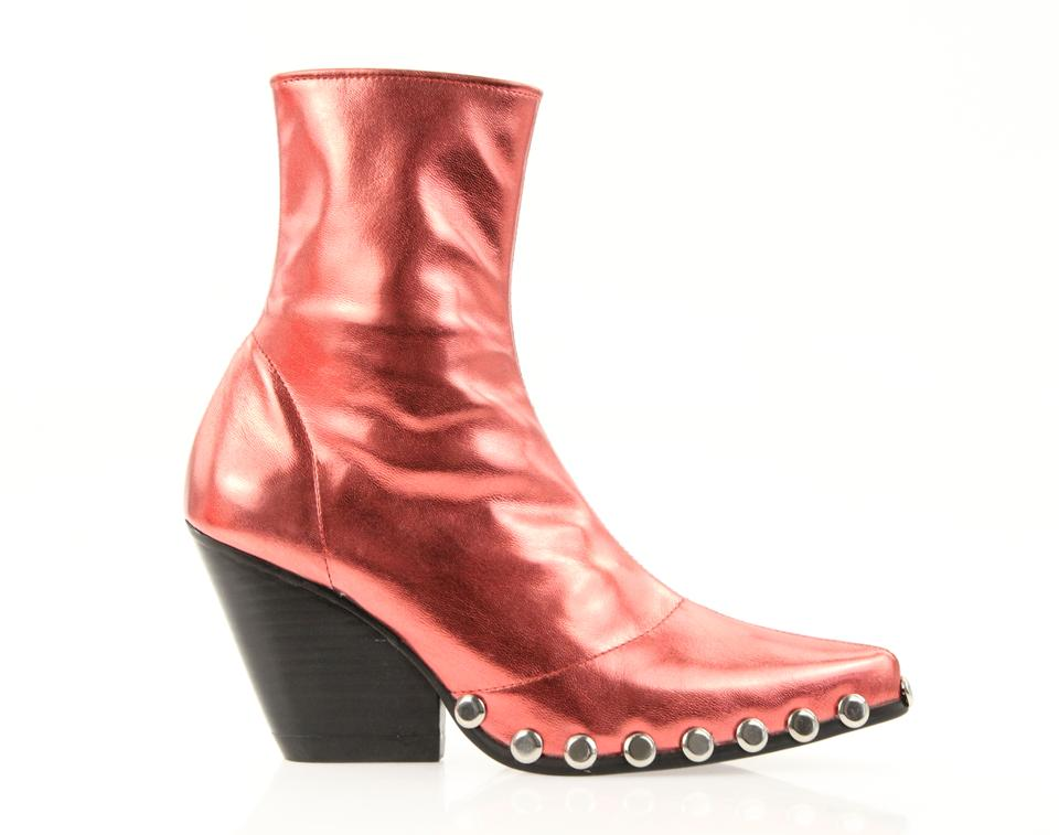 c9791010ee8d8 Jeffrey Campbell Red Walton Metallic Boots Booties Size US 6 Regular ...