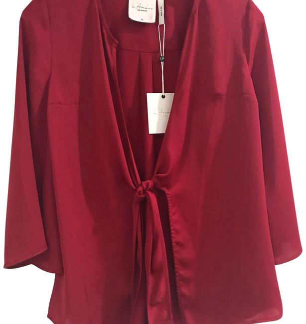 L'academie L Silky Tie Front Cardigan Size 2 (XS) L'academie L Silky Tie Front Cardigan Size 2 (XS) Image 1