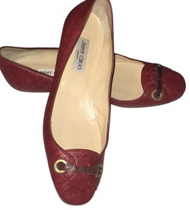 Jimmy Choo burgundy/red Flats
