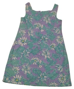 Lilly Pulitzer short dress Periwinkle, green, white on Tradesy