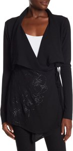 Johnny Was Wrap Sequin Longsleeve Floral A-line black Jacket