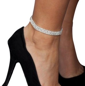 Precious ankle stretch bracelet in sliver and gold