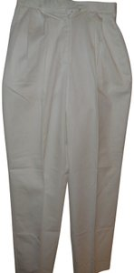 David Brooks Designer Soft Comfortable Vintage Pastel Boot Cut Pants White