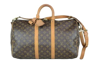 Louis Vuitton Keepall Bandouliere Monogram Cross Body Bag