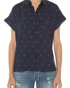Rails Button Down Shirt navy