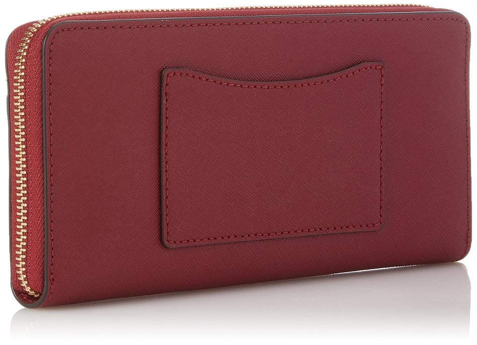c83fac800ebb83 Michael Kors Michael Kors Mercer Pocket Zip Mulberry Leather Continental  Wallet Image 4. 12345