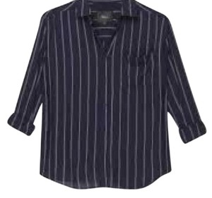 Rails Button Down Shirt navy white twin stripe