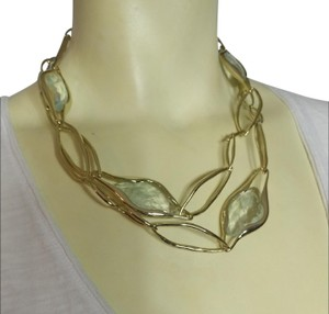 Alexis Bittar Alexis Bittar Lucite Gold Chain Link Necklace