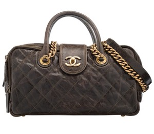 Chanel Timeless Classic Boston Travel Tote in Olive Brown