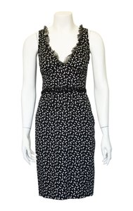 Blumarine short dress Black White Lace Trim on Tradesy
