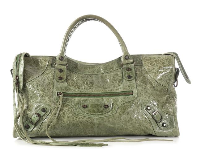 Item - 2008 Classic Part Time Agneau Thyme Green Lambskin Leather Satchel