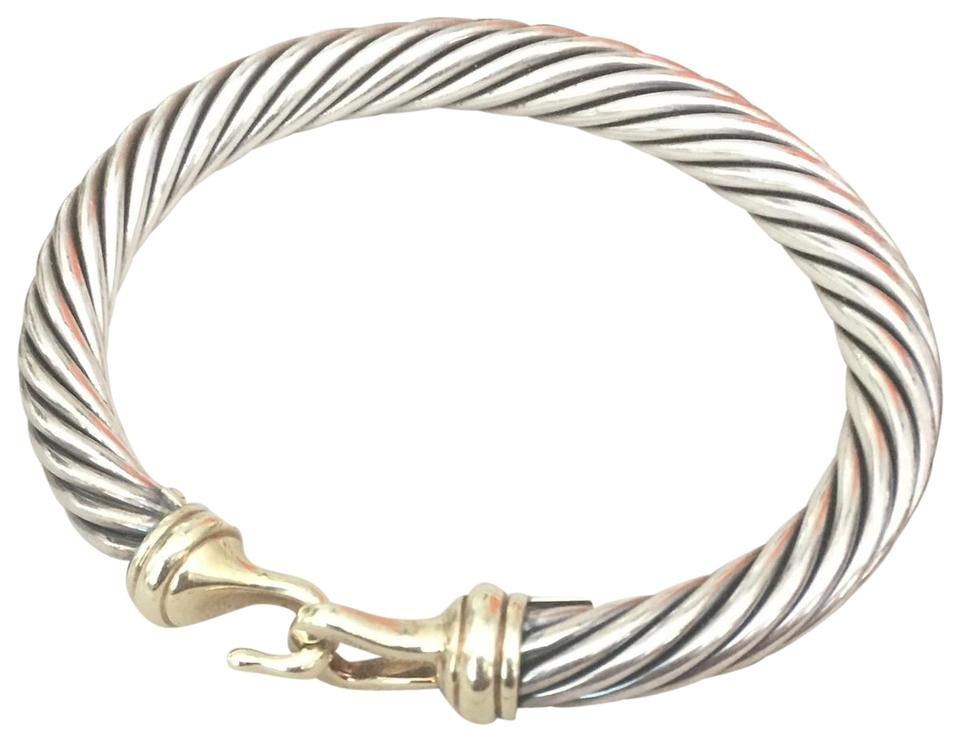 David Yurman 14kt Gold And 925 Silver Cable Buckle Two Toned