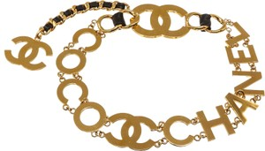 "Chanel Chanel Coco Logo Chain Belt (Size 27"") 485524"