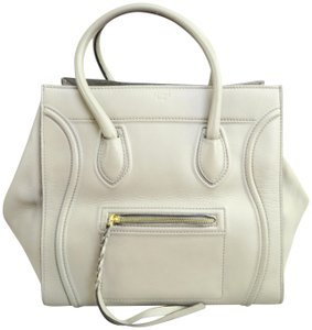 Céline Cabas Phantom Calfskin Medium Satchel in grey