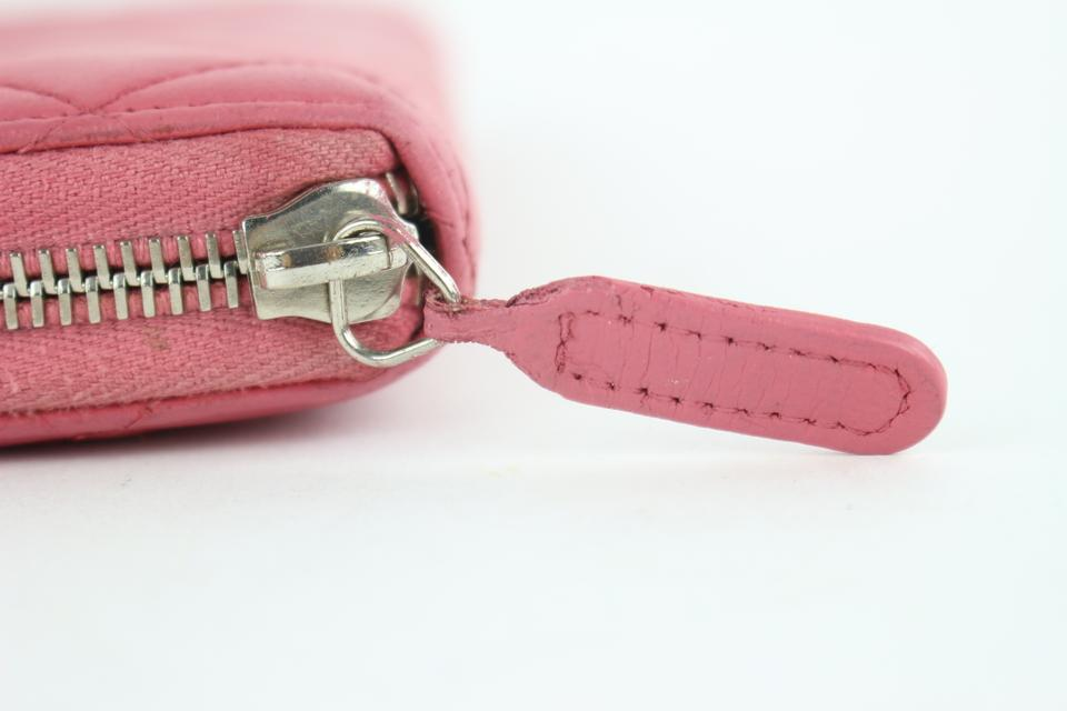 6015ffb5812d Chanel Gusset Zippy Zip Around Continental Cc Logo Pink Clutch Image 11.  123456789101112