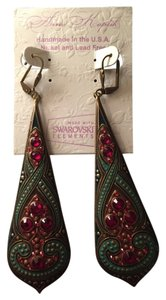 Anne Koplik Swarovski crystal drop earrings