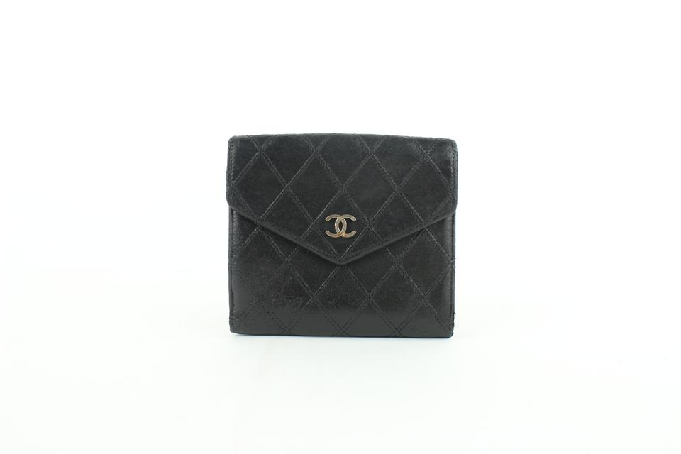 f72144b52997 Chanel Black Quilted Lambskin Compact Sqaure Bifold Flap 8cz1002 ...