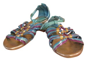 ShoeDazzle Purple and turquoise Sandals