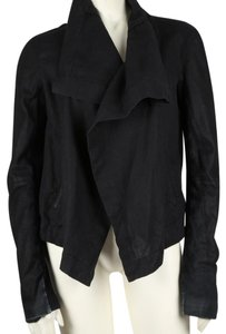 VEDA Open Front Leather Jacket