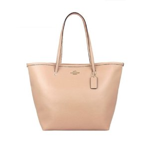 Coach Taxi Leather Handbag Tote in Nude