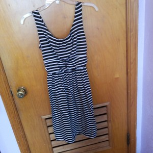 Faded Glory short dress Black and white with stripes on Tradesy